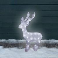 Karácsonyi kültéri LED világító akril rénszarvas 63 cm meleg fehér