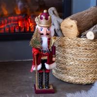 Dísz piros diótörő figura dekoráció karácsonyfával 38 cm