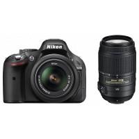 Nikon D5200 fényképezőgép kit (18-55mm + 55-300mm objektívvel)