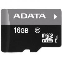 A-Data microSDHC 16GB (class 10) UHS-I 30MB/s memóriakártya (AUSDH16GUICL10-RA1)+SD adapter
