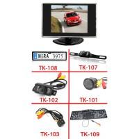 """3.5 mini monitor + vezeték nélküli tolatókamera szett"""""""