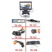 """7 Monitor + Vezeték nélküli tolatókamera szett"""""""