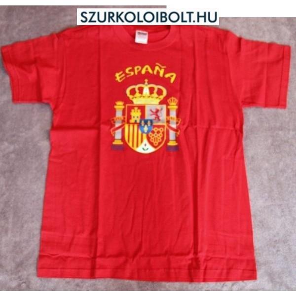 Espana feliratos rövidujjú pamut póló (piros) - spanyol szurkolói póló 1a9b05fe74