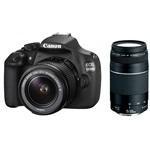 Canon EOS 1200D fényképezőgép kit (18-55mm DC III + 75-300mm objektívvel)