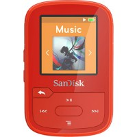 Sandisk CLip Sport Player mp3 4GB, red, microSDHC, Radio FM, color display
