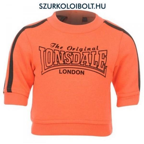 Lonsdale melegítő   szabadidő felső - gyerek pulcsi narancs színben (18-24  hó) fd7ae6aaf5