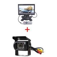"""7 24 V Monitor + vezeték nélküli tolatókamera szett"""""""