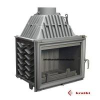 Kratki Zuzian 16kW kandallóbetét (sík üveges)