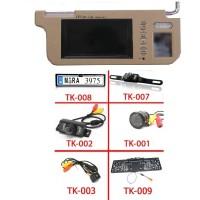 Napellenző monitor + tolatókamera szett