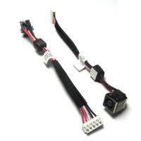 HP Elitebook 8540W 8540P series DW111 595764-001 gyári új DC jack aljzat alaplapi kábellel