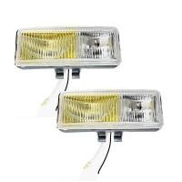 Ködlámpa 12V/H3/55W sárga-fehér szögletes, terítő fény DUO HQ120