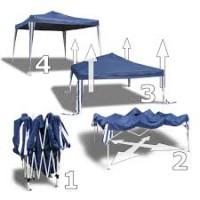 Pavilon 3x3 m összecsukható alu.