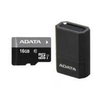 A-Data microSDHC 16GB (class 10) UHS-I memóriakártya+USB adapter (AUSDH16GUICL10-RM3BKBL)