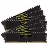 Corsair VENGEANCE® LPX 64GB (8 x 8GB) DDR4 DRAM 2666MHz C16 Memory Kit – Black (CMK64GX4M8A2666C16)