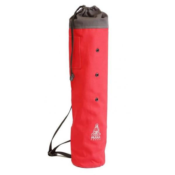 Prána párna Piros yoga matrac tartó szürke hímzéssel 75x15 cm 9f0e6301cf