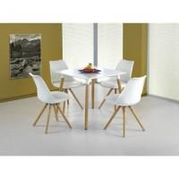 Socrates téglalap fehér/bükk étkezőasztal