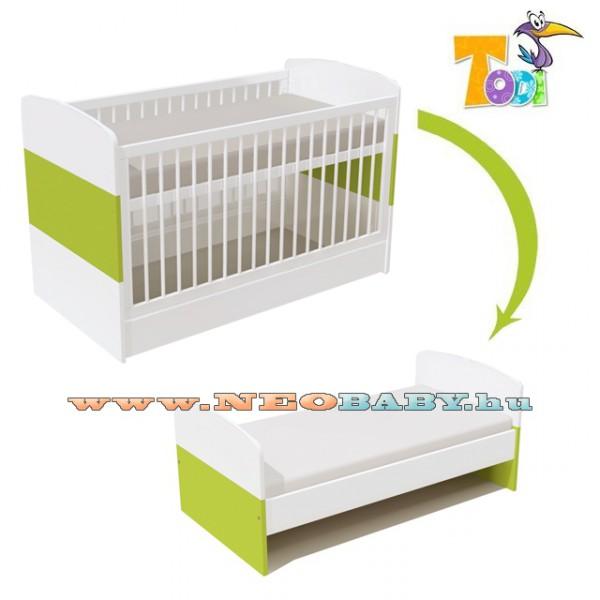 Todi Kaméleon-fehér Átalakítható babaágy 630 Élénkzöld a40c4c481c