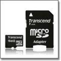 Transcend MicroSDHC 16GB (Class 6) memóriakártya+adapter