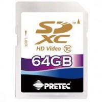 Pretec SDXC 64GB (class 16) memóriakártya