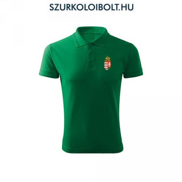 1c49439afc Hungary / Magyarország póló - Magyarország szurkolói ingnyakú / galléros  póló (zöld)