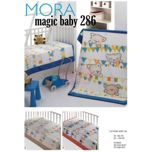 Mora Magic Baby 286 babapléd 80x110cm  05 Azul 42c1c8ad08