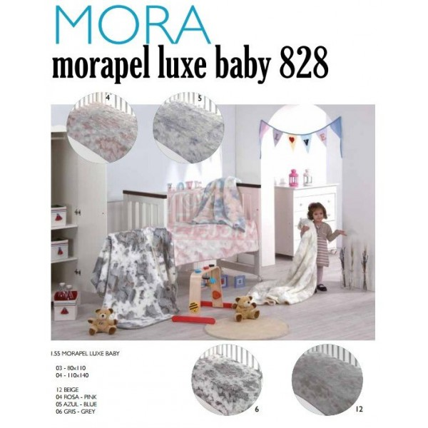 Mora Lux Baby 828 babapléd 80x110cm  05 Azul 4f6be887ca