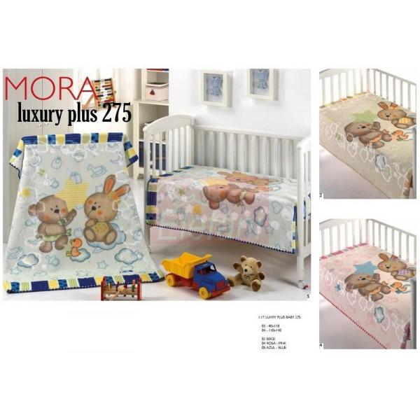 Mora Lux Plus Baby 275 babapléd 80x110cm  05 Azul 1a2613dfaf