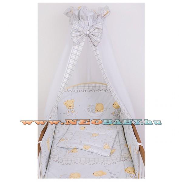 Szeko Studio Tündér 4 részes baba és gyermek ágynemű garnitúra cuki maci  szürke ec6ff59b59