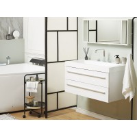 Fehér fürdőszoba bútor + mosdó + tükör - Fürdőszoba szekrény - BARCELONA