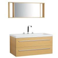Bézs fürdőszoba bútor + mosdó + tükör - Fürdőszoba szekrény - BARCELONA