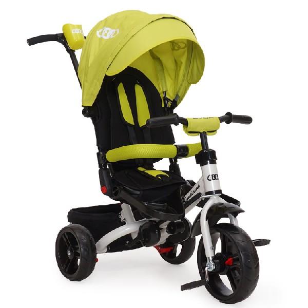 Byox Continent szülőkormányos tricikli Green Forgatható 7151c01ae9