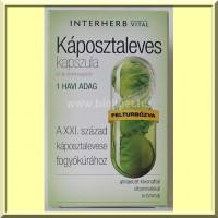 Káposztaleves kapszula almaecet kivonattal - Interherb