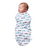 Pocaklakó pólya, 0 - 3 hónapos korig, kék színű, autós mintás, Clevamama