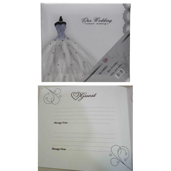Esküvői vendégkönyv GUESTBOOK-Dress cdb4922cc4