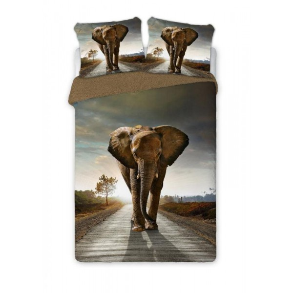 Elefánt 3 részes pamut-perkál ágyneműhuzat 1293a14e94