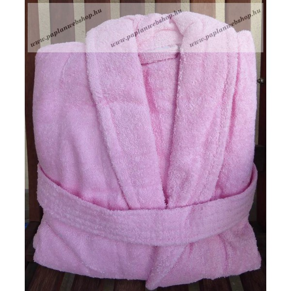 Frottír sálgalléros Rózsaszín köntös (100 % pamut) 5fcaec95ed
