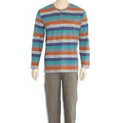 ONEWAY Oneway 2322 csíkos férfi pizsama a30ee6aede
