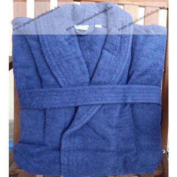 Frottír sálgalléros Kék köntös (100 % pamut) 18db080707