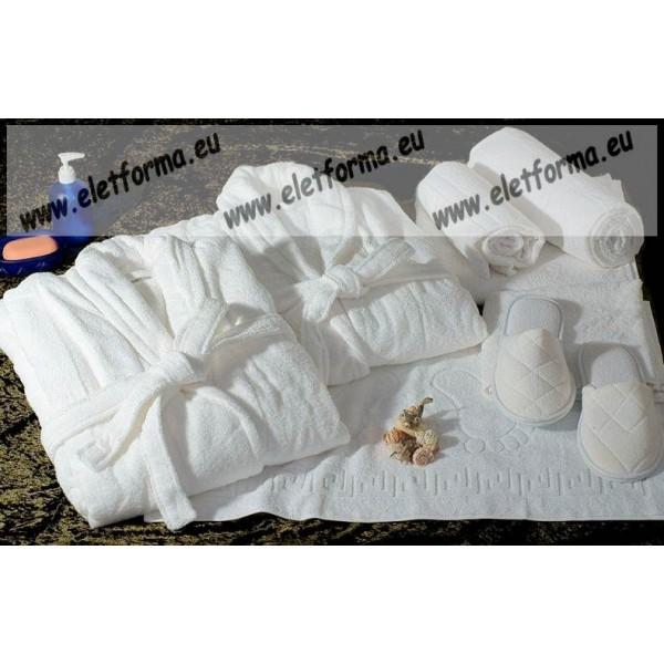 Frottír sálgalléros Fehér köntös (100 % pamut) 47c90ab6e2