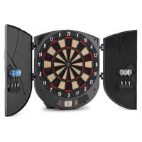 oneConcept Dartor elektromos darts céltábla, puha hegyű nyilak, 26 játék, ajtók, hangok
