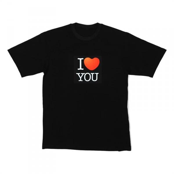Resident DJ LED póló I love you 5f60b89bb7