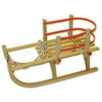 Fa szánkó karfával, 100 cm