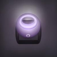 Phenom lila éjjeli fény alkonykapcsolóval