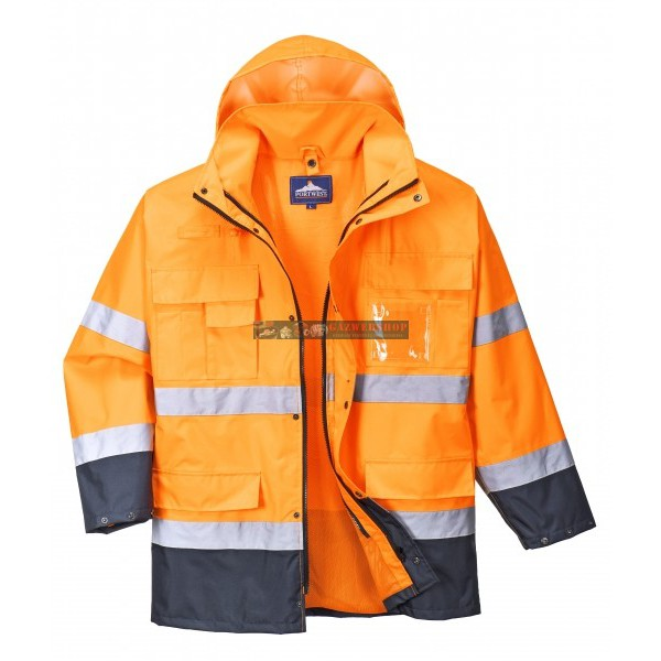 Portwest S162 Hi-Vis Lite 3 az 1-ben kabát (narancs navy) 6452e18bef