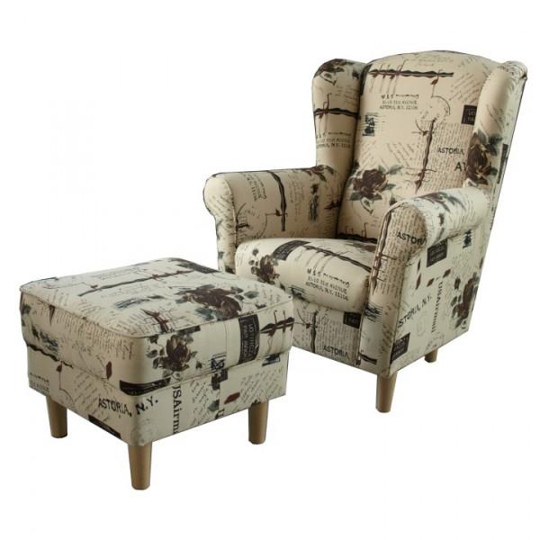 Tempo Kondela 149733 Astrid fotel és puff 30a339b615
