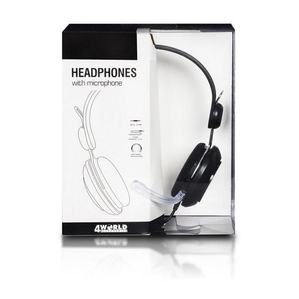 4World 9961 fejhallgató. Típus Vezetékes sztereo headset 407c02dcef