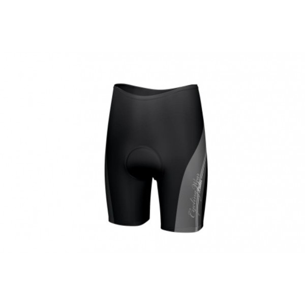 Kellys Pro Race kerékpáros rövid nadrág, betétes kantáros, feketepiros, M
