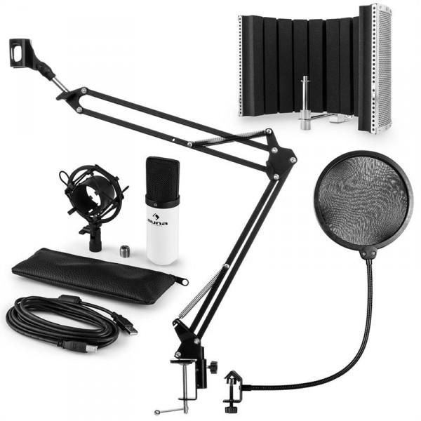 Auna auna MIC-900WH USB mikrofon szett V5 kondenzátoros mikrofon 1053179119