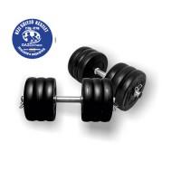 Gazo Fitness Kézi Súlyzó 2x16kg (össz: 32kg) fekete