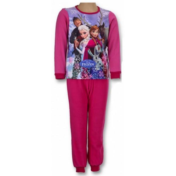 gyermek polár pizsama FROZEN - Jégvarázs - sötét rózsaszín - méret  104 a34888b753